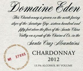 #16 Top 100 Wines 2015 - 94 Points - Domaine Eden 2012 Chardonnay (Santa Cruz Mountains) | Wine Enthusiast Magazine