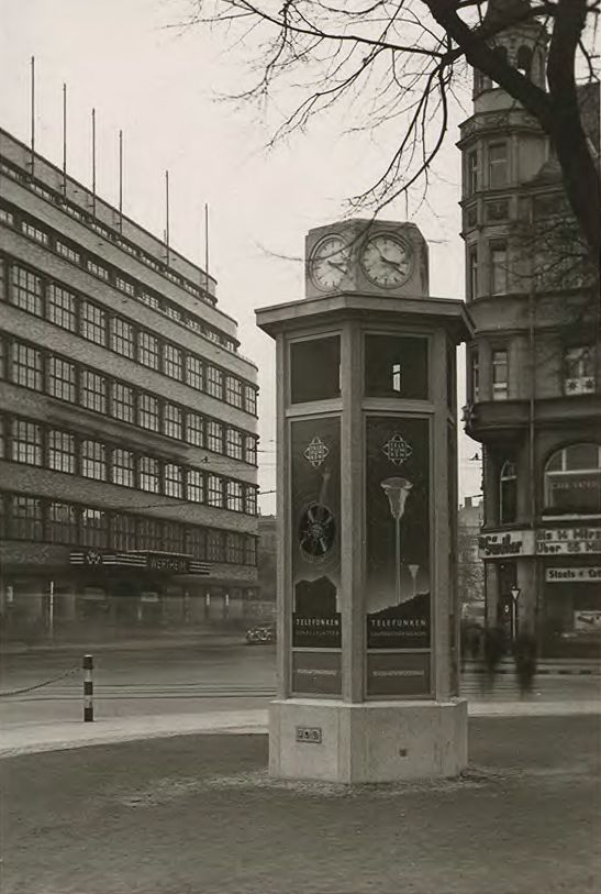 'Reichslautsprechersäule', reklama Telefunken, 1937.