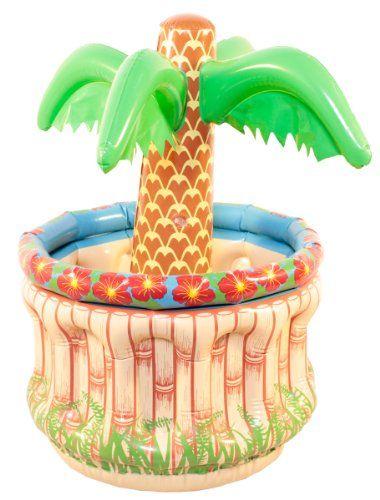 Aufblasbare Palme als Bierkühler ideal für jede Party
