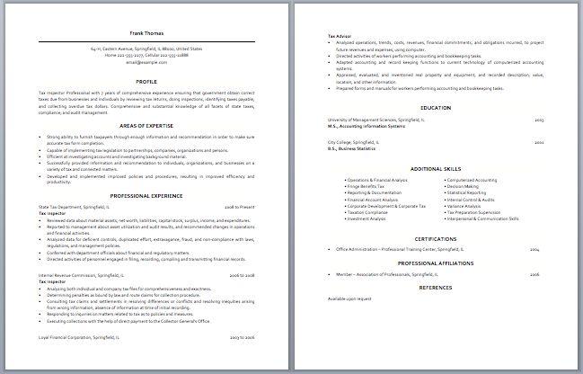 Junior Tax Accountant Resume | Accounting Resume Samples