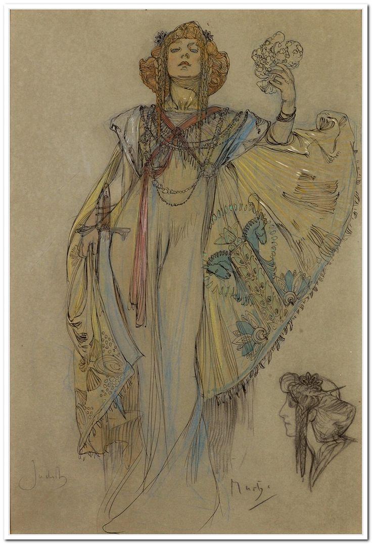 Judith. Art by Alfons Mucha. (1860-1939)