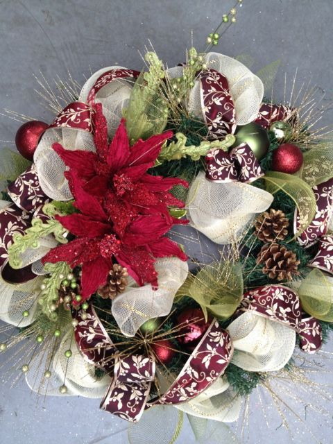 Christmas Wreaths  (part 2) - Here's some more custom made wreaths (and garlands) I made for clients this year. ( and a few from 2011) I show you how to make th…