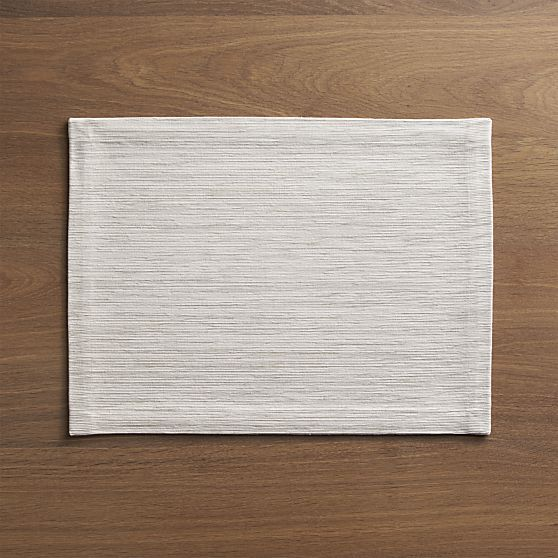 Grasscloth White Placemat in Placemats | Crate and Barrel