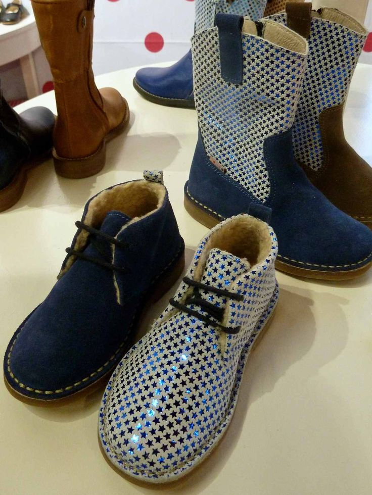 More stars, in metallic blue leather at My Sweet Shoe for kids footwear winter 2013