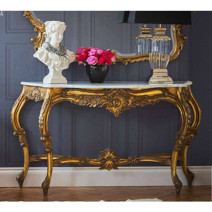 Versailles Gold Large Console Table | Console Table