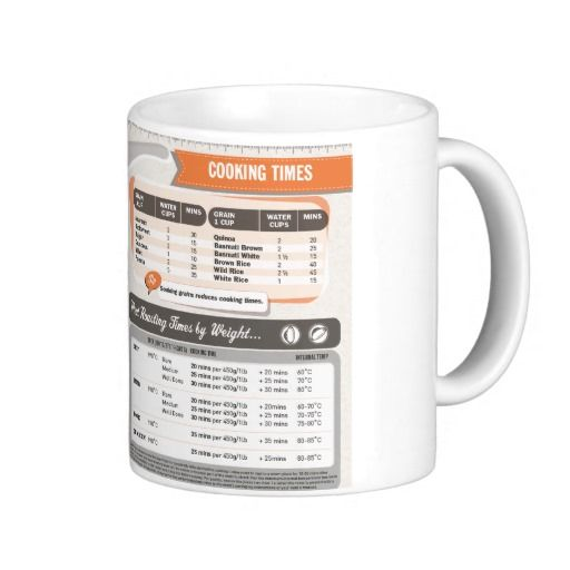 Kitchen Cheat Sheet Cooking Times Mug