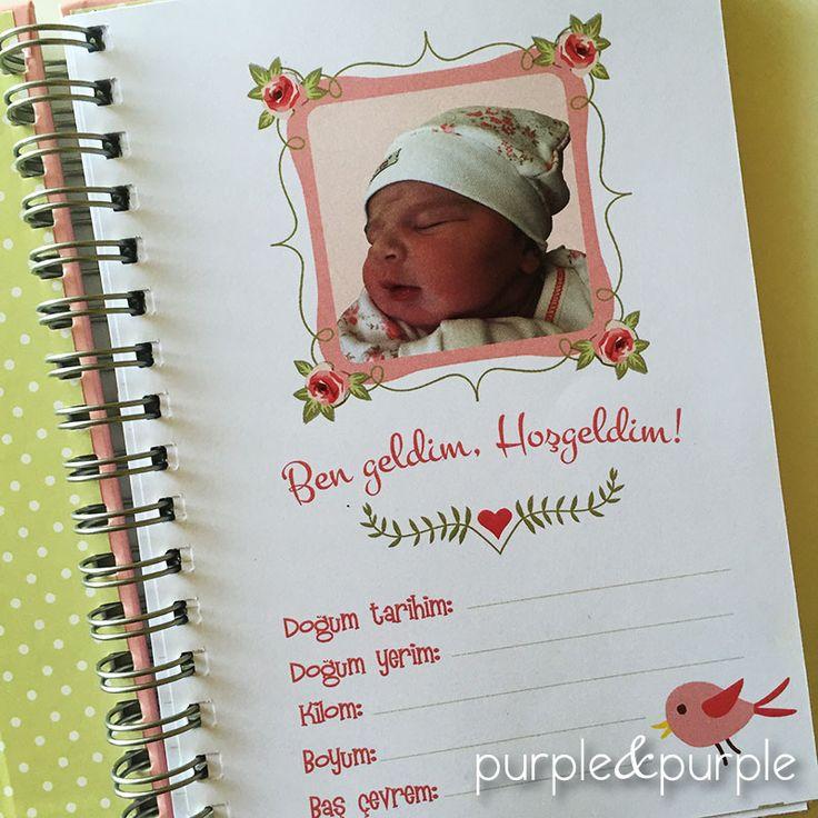 Bebek Hatıra Albümü | Bebeğimin İlk Yılı Defteri | Hoşgeldin Bebek Albümü | Fotoğraflı Doğum Bilgileri Sayfası | Bebek Anı Defteri