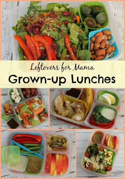 """Grown-up """"Work"""" Lunches for Mama   packed in @EasyLunchboxes containers"""