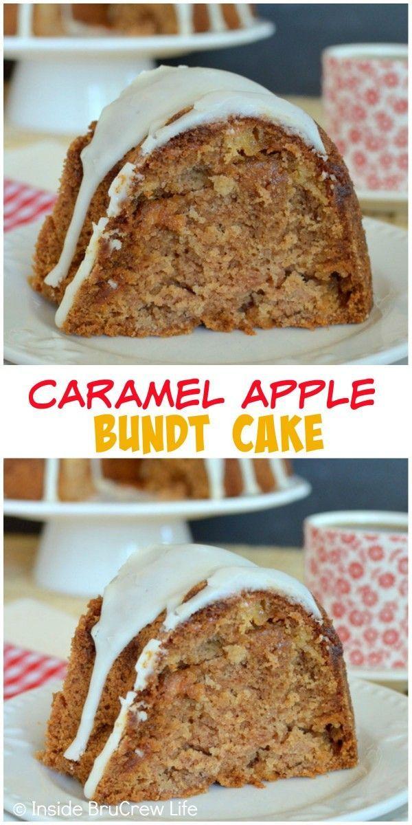 Apple Upside Down Bunt Cake