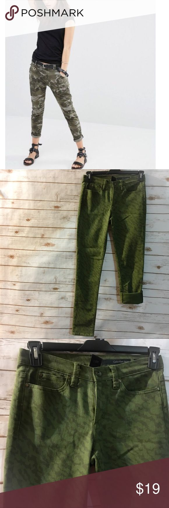 Calvin Klein Camo Skinny Jean ***Cover photo is from Lyst and is of a similar Pant but not identical, cover is used for style suggestion*** These are a super cute camo similar Skinny Pant from Calvin Klein. EUC! Bundle and Save! Calvin Klein Pants Skinny