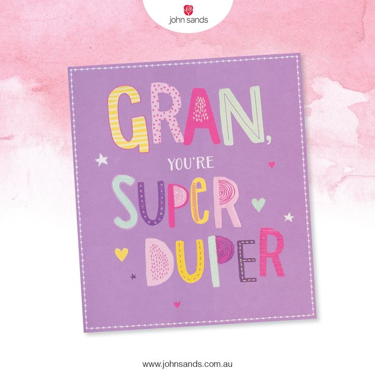 Gran, you're super duper    John Sands Cards