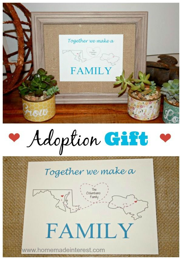 Personalized Printable Adoption Gift | http://www.homemadeinterest.com Home.Made.Interest. #family #adopt #gift