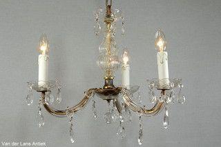 Kristallen Maria Theresia kroonluchter 26628 bij Van der Lans Antiek. Meer kristallen lampen op www.lansantiek.com