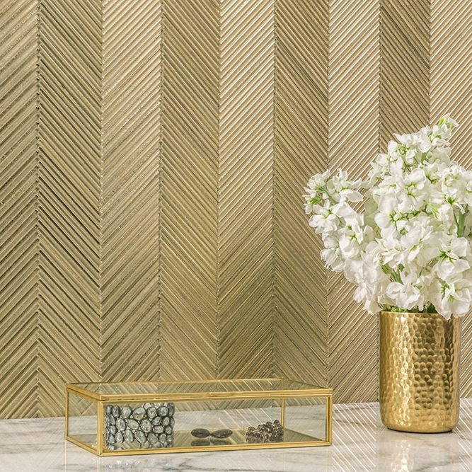 Glamorous Gold Tiles Gold Tile Gold Tiles Bathroom Gold Walls