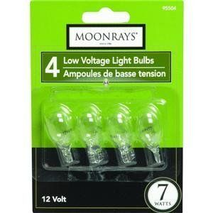 Coleman Cable Inc 4Pk 7W Clr T5 Bulb 95504 Accent & Patio Lighting Accessories by Moonrays. Save 3 Off!. $4.84. 4 Pack, 7W, 12V, T-5, Bulb, Wedge Base, 300 Life Hours, 38mm Overall Length, Use With For Fixture #95871,