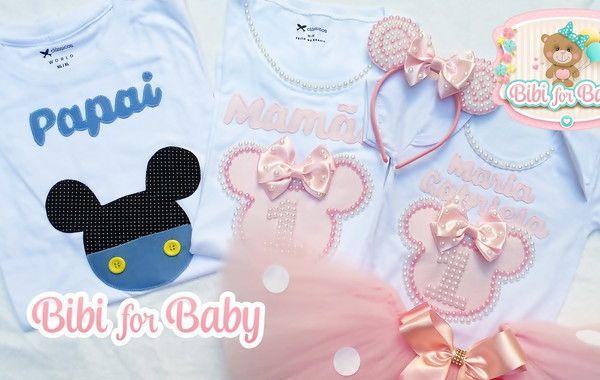 77e32e525 Kit Camiseta E Infantil Minnie Rosa lux no Elo7 | Bibi For Baby (9DC3A4)