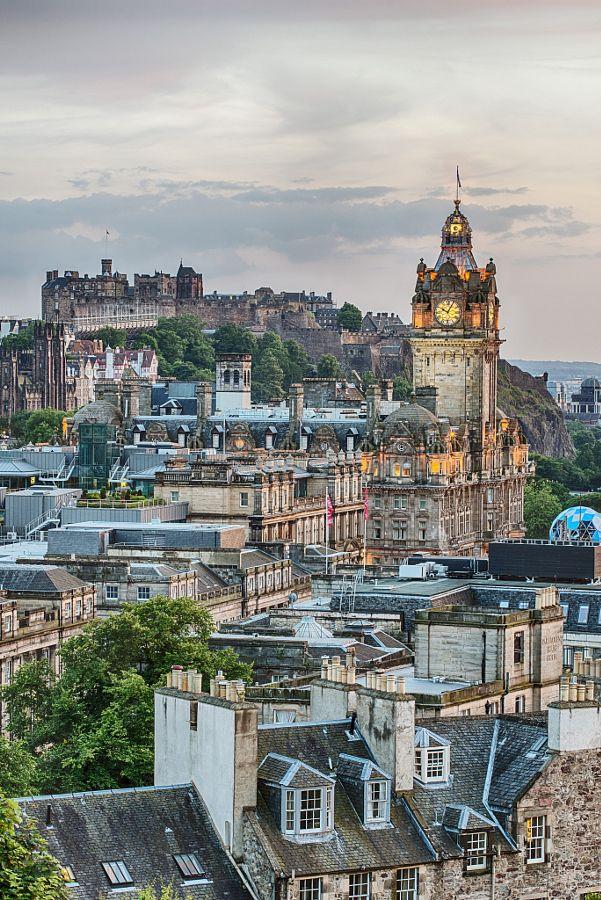 Balmoral Clock & Edinburgh City Centre by Chris J Mitchell - Photo 79134979 - 500px