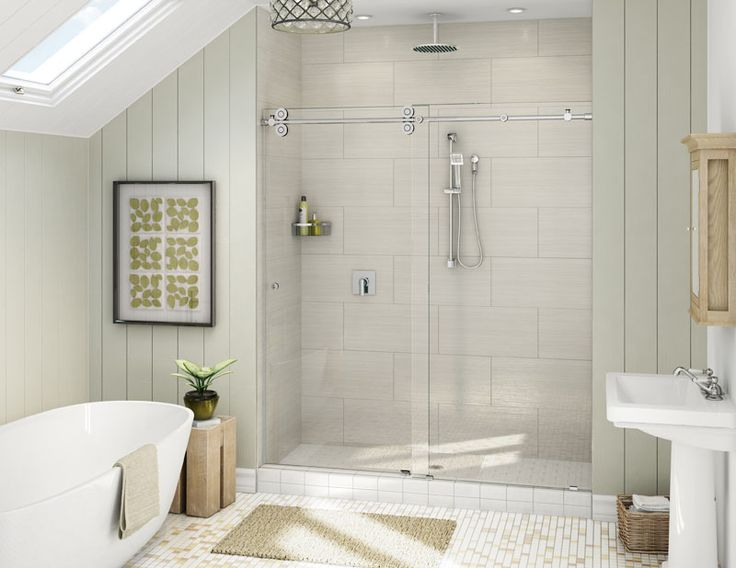Pl60 heavy glass slider frameless heavy glass shower door alumax bath enclosures pl60 665 - Alumax shower door and buying considerations ...