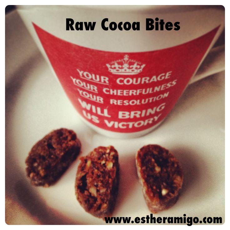 Raw cocoa bites www.estheramigo.com