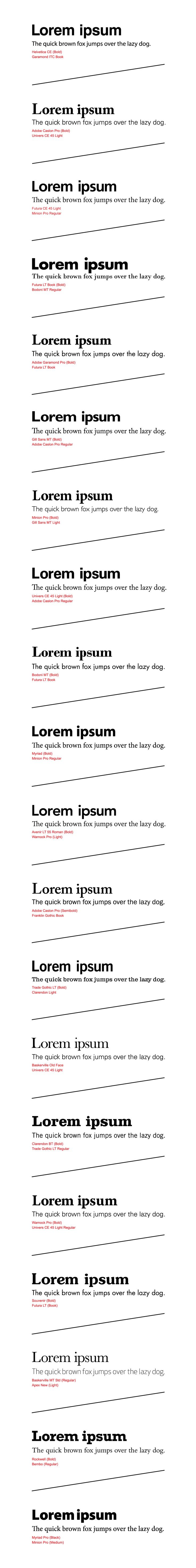 Best Fonts And Font Combinations, PART 3