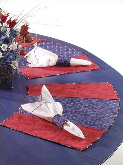 Sewing -- Curved Placemats for a round table!