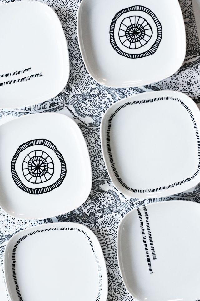 DIY paint your own plates - Rackarungar