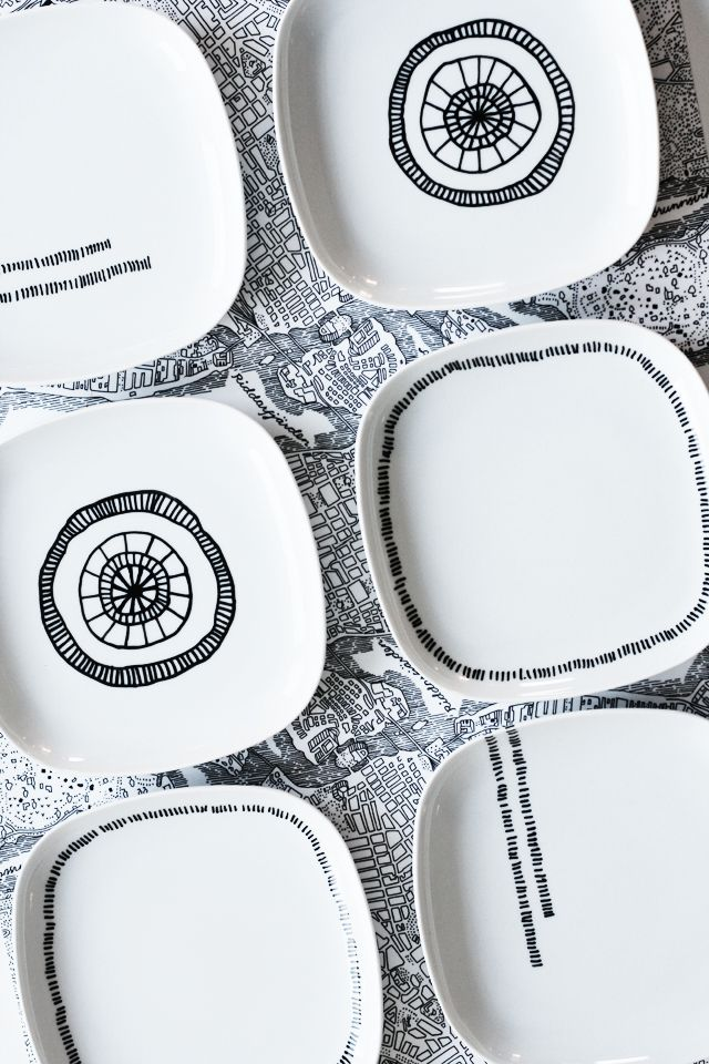 DIY paint your own plates -