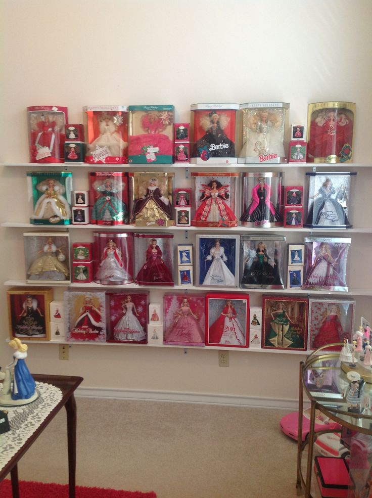 My Holiday Barbie Collection with all the Hallmark ornaments.. 1988-2012,
