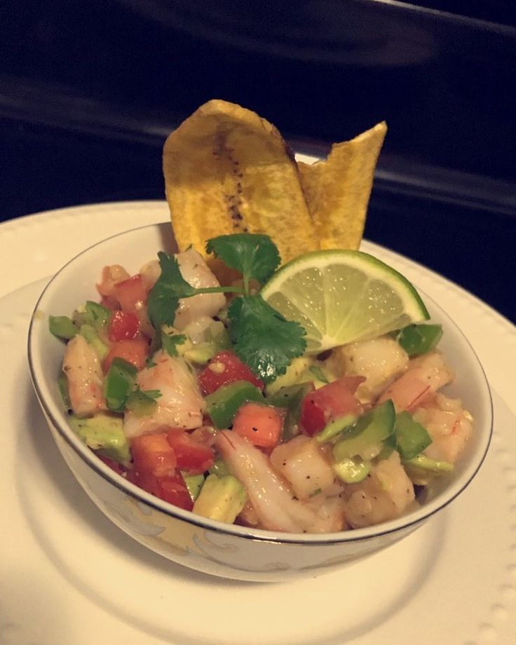 """54 Likes, 4 Comments - Jessica Lingscheit (@forsalebyjessica) on Instagram: """"Homemade shrimp ceviche 😋 Ingredients: •15 shrimp cooked •1 avocado •2 plum tomatos •1/8 cup diced…"""""""