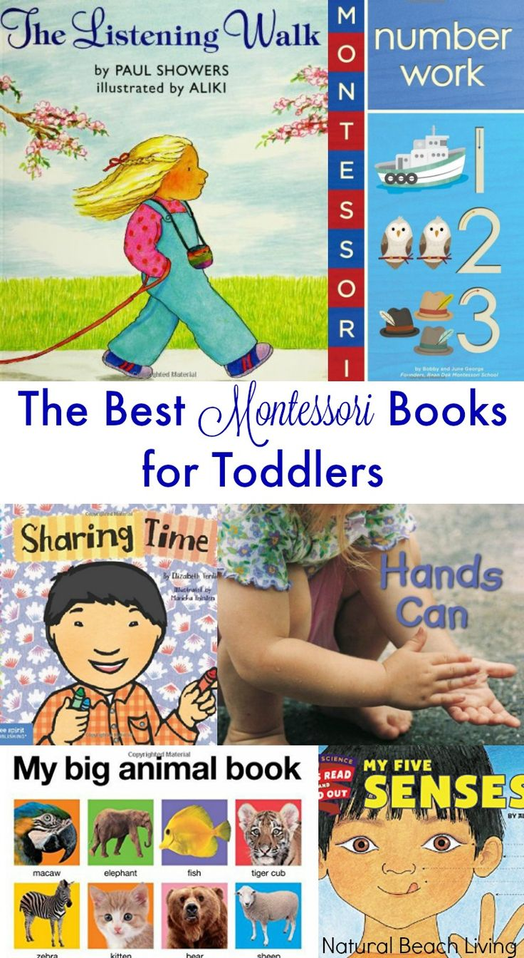 The Best Montessori Books for Toddlers, Perfect books for toddlers, alphabet books, number books, real life picture books, sensory and animal books. Love!