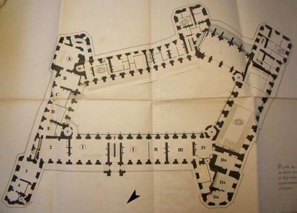 Plan Du Chateau Royal De Saint Germain En Laye Saint Germain En Laye Architecture Drawing Palace