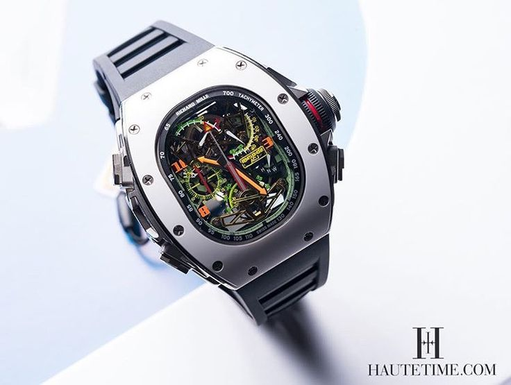 Richard Mille RM50-02 ACJ Tourbillon Split Seconds Chronograph is a collaboration between Richard Mille & Airbus Corporation Jets. Limited to 30 pieces.