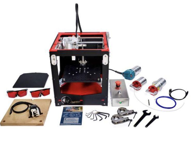 BoXZY 3d Printer Rapid-Change FabLab (3 in 1 machine  Engraver, & CNC Mill) #Boxy