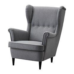 STRANDMON Wing chair, Nordvalla dark grey - Nordvalla dark grey - IKEA