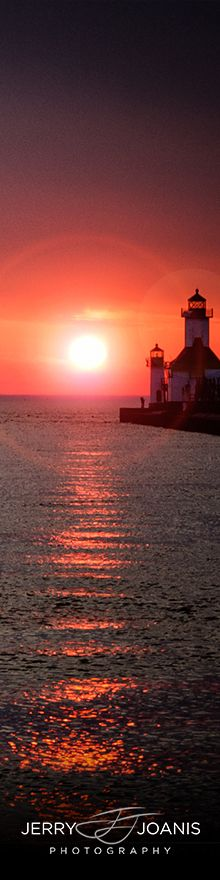 Sunset on the North Pier • St. Joseph, Michigan