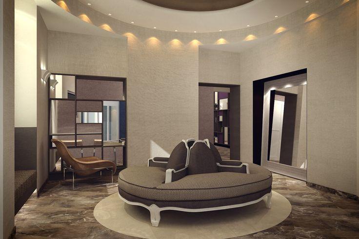 Custom Couch for Villa Torlonia Italy by CaberlonCaroppi Design