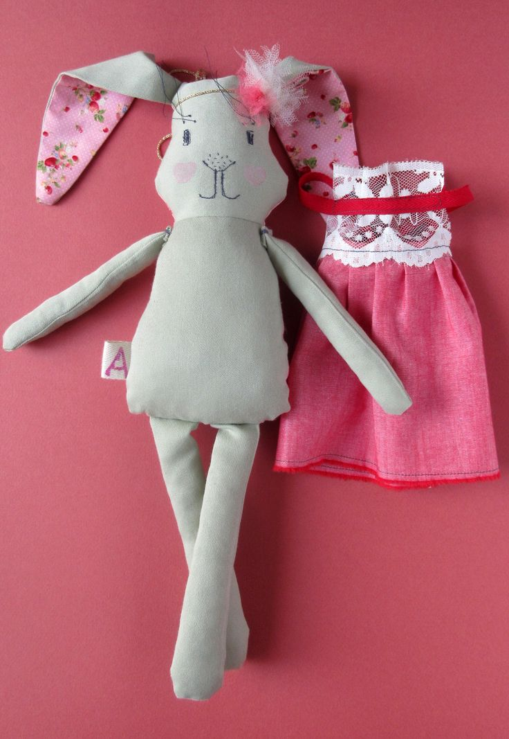 Abracadabra and stuff - Whimsical plushies and rag dolls. Fabric bunny Rabbit soft toy Stuffed Rabbit Stuffed bunny Rabbit toy Easter bunny Easter decor Baby girl gift Nursery decor Bunny plushie