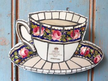 Vintage Teacup Mosaic Rosie Lee