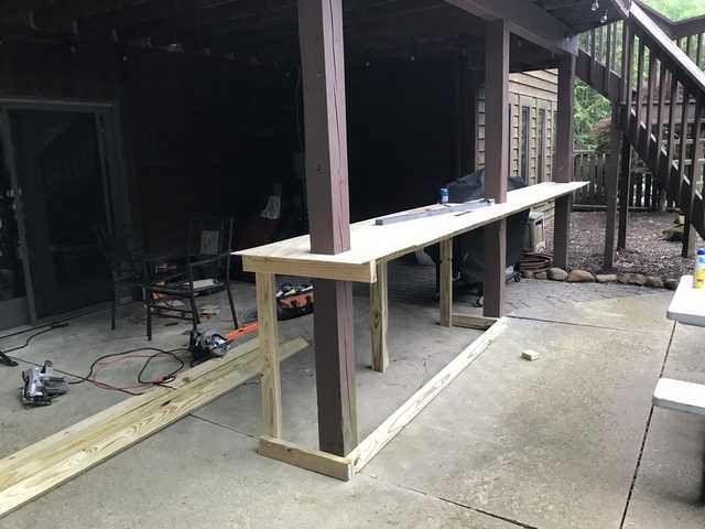 Diy Outdoor Patio Bar Under Deck 2019 Outdoor Patio Bar Patio Makeover Backyard Patio Designs