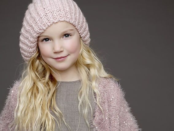 Dívčí pletený baret Vibe | Bella Rose