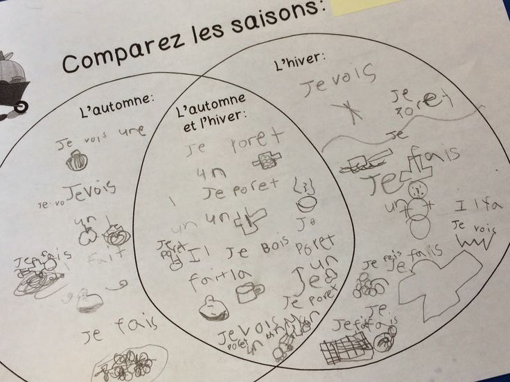 Comparing seasons! Grade 1 French Immersion Seasonal changes #frenchimmersion #frenchteacher
