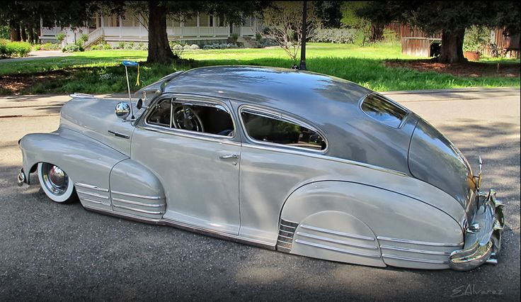 1948 Chevrolet Fleetline Aerosedan belonging to the Dukes car club, USA.