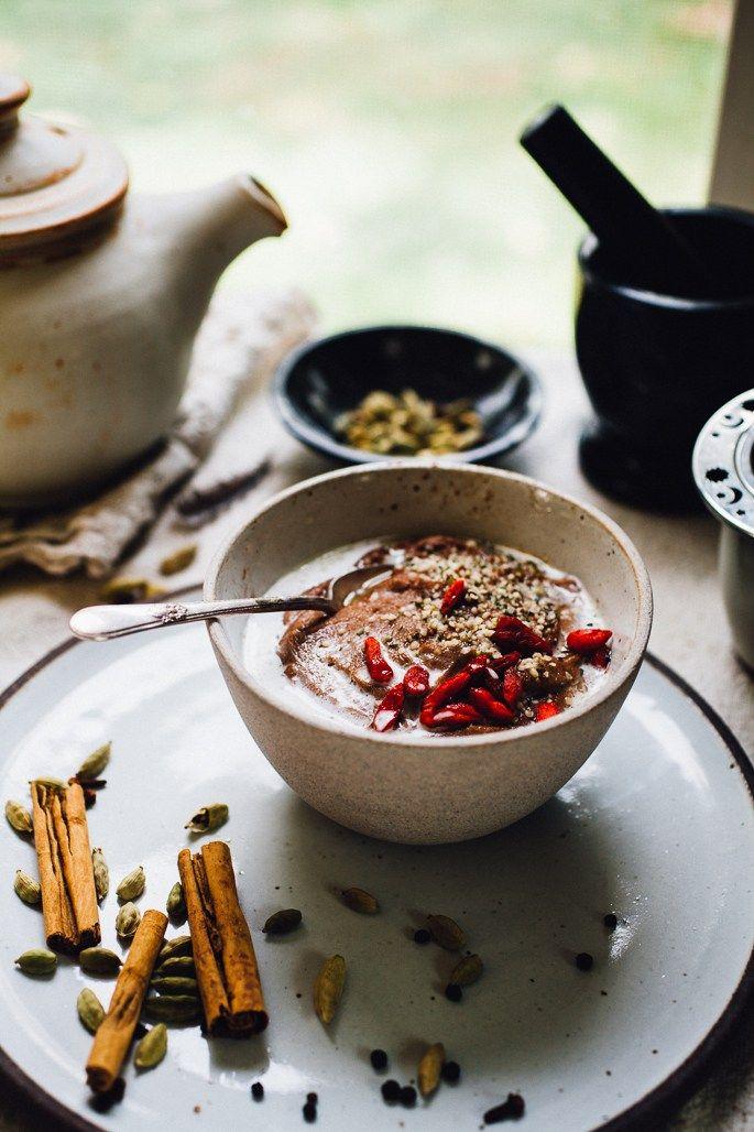 chai teff porridge with coconut milk   naturally vegan and gluten free recipe via willfrolicforfood.com