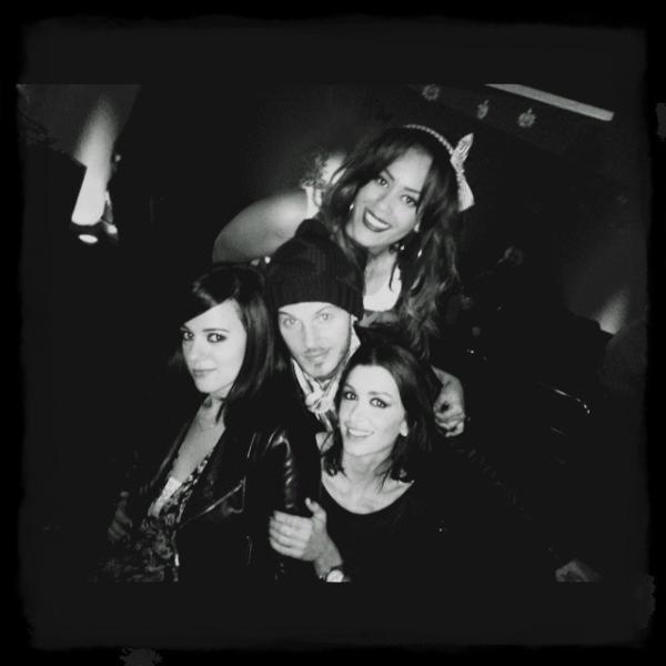 Alizee, Matt, Amel, Jenifer at Les Enfoires 2012 as posted by Alizee on Twitter