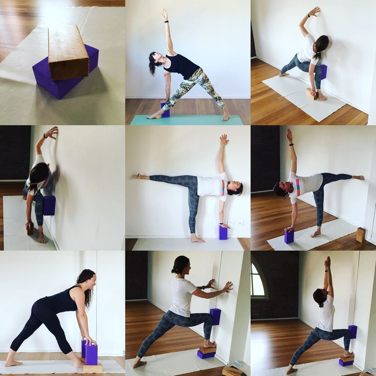 Standing poses with block