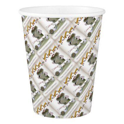 vintage german goalkeeper paper cup - birthday diy gift present custom ideas