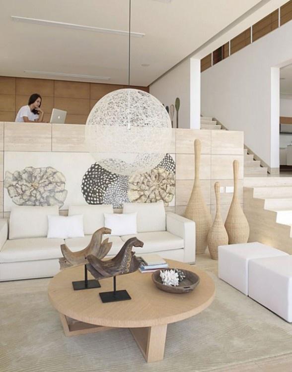 Modern + InteriorDecor, Dreams Home, Beach House, House Design, Livingroom, Interiors Design, Modern Living Room, Pendants Lights, Modern Interiors