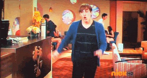 Cuando hacía el 'happy dance'
