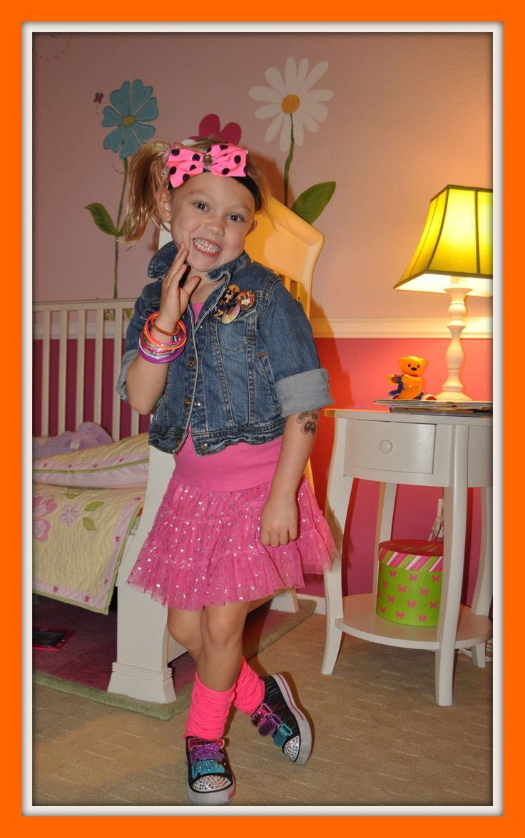 costume diy 80s for girls   easy, cheap, last-minute diy costumes for halloween as seen on fox 5  adorable!!...