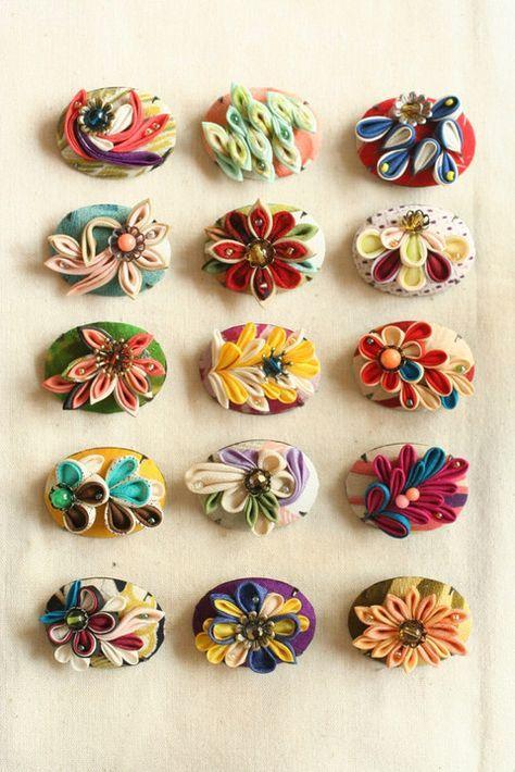 ちりめんを使って作られる美しいつまみ細工。江戸時代から続く伝統工芸は、現代の身近な道具を使ってチャレンジすることができるんです♡